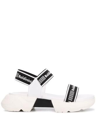 Baldinini Monochrome Logo Strap Sandals
