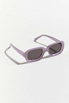 Salmon Rounded Rectangle Sunglasses
