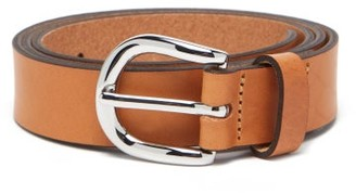 Isabel Marant Zap Skinny Leather Waist Belt - Tan