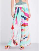 Mara Hoffman Abstract-print woven trousers