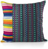 Karma Living Hand Loomed Mamasita Stripe 20 x 20 Pillow - Turquoise
