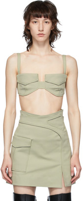 Dion Lee Khaki Pocket Bra Tank Top