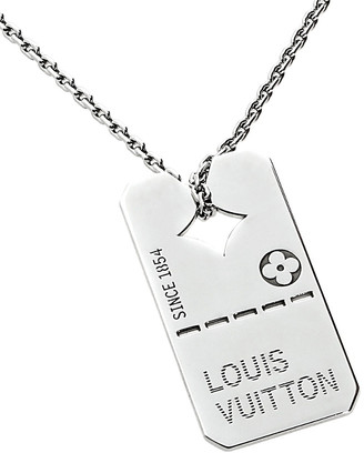 Louis Vuitton Heritage  18K Dog Tag Necklace