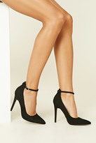 Forever 21 FOREVER 21+ Faux Suede Ankle-Strap Pumps
