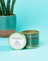 Paddywax Plaid Small Candle Pomegranate & Spruce