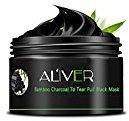 AL'IVER Charcoal Powder Black Mask Anti-Aging Peel Off Face Mud Deep Clean Activated Exfoliator 100ml in Jar
