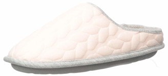 Dearfoams Women's Cable Quilt Bound Clog with Wide Widths Slipper