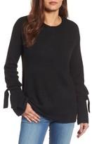 Halogen Women's Tie Bell Sleeve Sweater