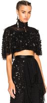 Rodarte Pearl & Pleather Flower Skirt