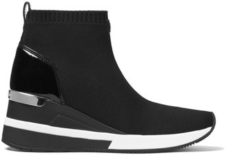 MICHAEL Michael Kors Skyler Soft Knit High-Top Wedge Sneakers