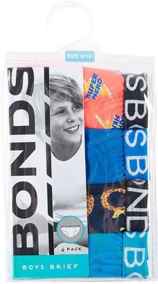 Bonds Boys Brief 4 Pack