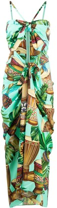 Dolce & Gabbana Drum-Print Long Dress
