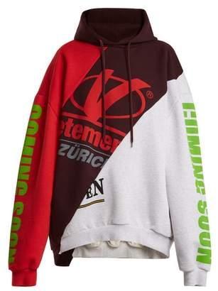 Vetements Deconstructed Hooded Sweatshirt - Womens - Multi