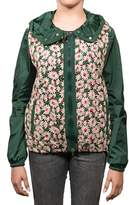 Moncler Marguerite Floral Embroidered Jacket Green Women's.