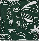 Barneys New York Men's Animal & Floral-Print Linen Pocket Square