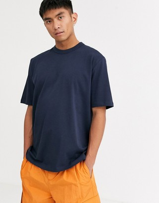 ASOS loose fit heavyweight t-shirt in navy