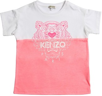Kenzo Kids Color Block Cotton Jersey T-Shirt