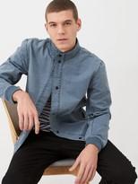 Very Funnel Neck Harrington Jacket - Blue