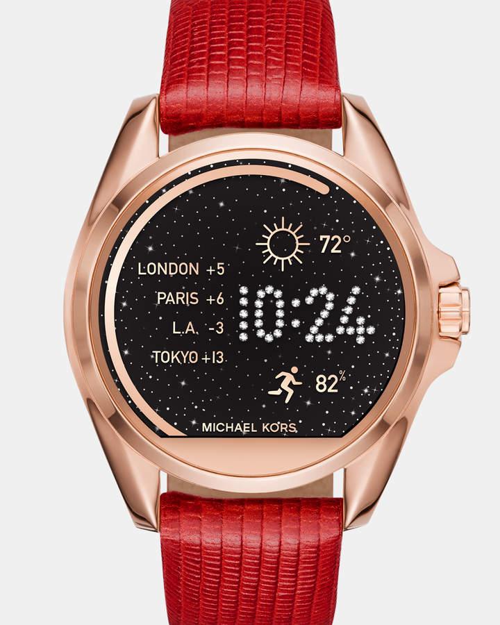 Michael Kors Smartwatch Strap Bradshaw Red