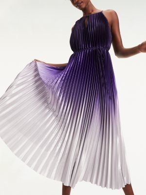 Tommy Hilfiger Ombre Pleated Midi Dress