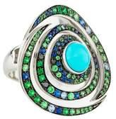 Boucheron 18K Diamond & Multistone Ring