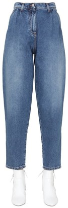 MSGM High-Waisted Tapered Jeans