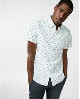 Express horizontal dot short sleeve cotton shirt