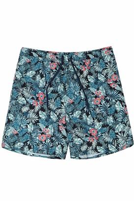 JP 1880 Men's Big & Tall Floral Print Men's Swim Shorts Grass Multi X-Large 720186 41-XL