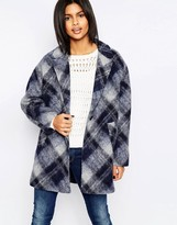 Pepe Jeans Tattler Checked Wool Mix Coat