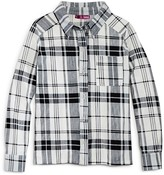 Aqua Girls' Plaid Shirt , Sizes S-XL - 100% Exclusive