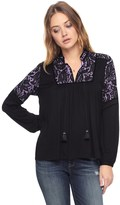 Juicy Couture Mixed Fabric Top