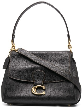 Coach Logo-Plaque Leather Tote Bag