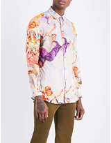 Moschino Baroque-print Regular-fit Cotton-poplin Shirt