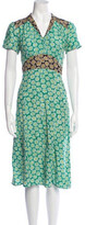 Thumbnail for your product : HVN Silk Midi Length Dress w/ Tags Green
