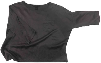 Marc by Marc Jacobs Grey Silk Top for Women