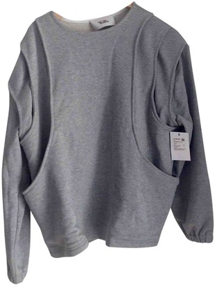 Vejas Grey Cotton Top for Women