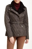 Vince Camuto Zipper Puffer Faux Fur Lined Jacket