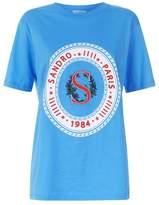 Sandro Embroidered Logo T-Shirt