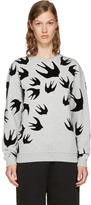 McQ Grey and Black Swallows Sweatshirt