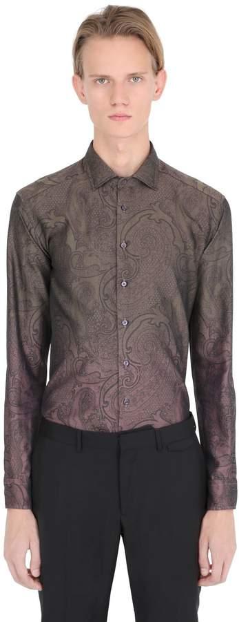 Etro Gradient Paisley Jacquard Cotton Shirt