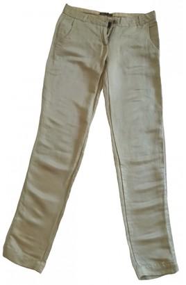Maison Scotch Yellow Silk Trousers for Women