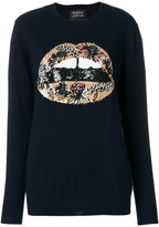 Markus Lupfer jumper with sequinned lip appliqué