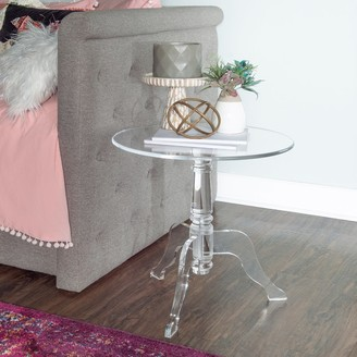 Linon Sarah Clear Acrylic End Table
