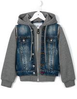 Philipp Plein 'Feline' denim/jersey jacket