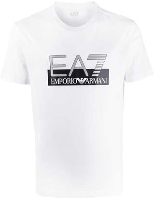 Emporio Armani Ea7 large logo print T-shirt