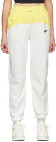 Thumbnail for your product : Nike White & Yellow Sportswear Icon Clash Lounge Pants