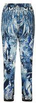 Roberto Cavalli Printed Silk Trousers