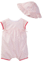 Absorba Romper & Hat Set (Baby Girls)