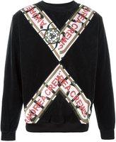 Andrea Crews striped sweatshirt - men - Polyurethane/Polyester/Polyamide/Cotton - L
