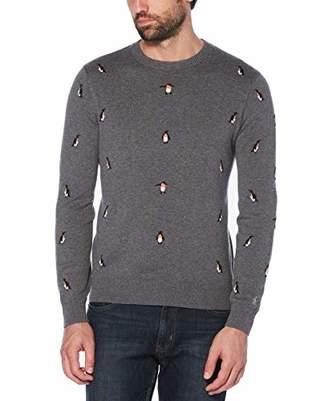Original Penguin Men's Long Sleeve Patterned Sweater